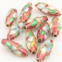 Beads, Copper, red, Oval, 18mm x 7mm, 2 Beads, (JTL0025)